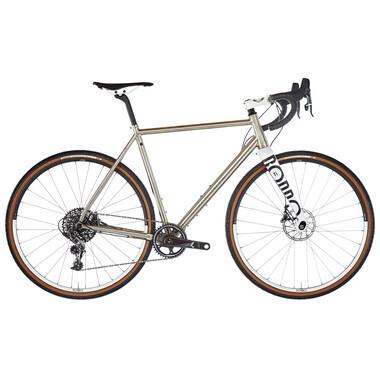Vélo de Gravel RONDO RUUT TI1 GRAVEL PLUS DISC Sram Force 1 40 Dents Argent/Blanc